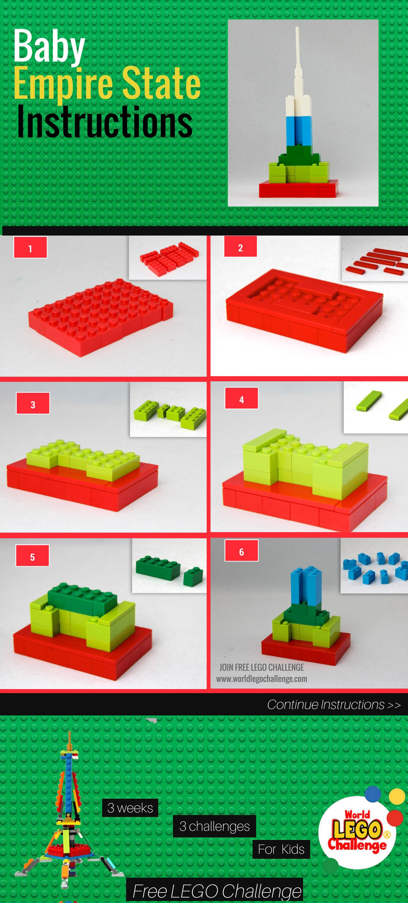 Lego Empire State Building Instructions World Lego Challenge